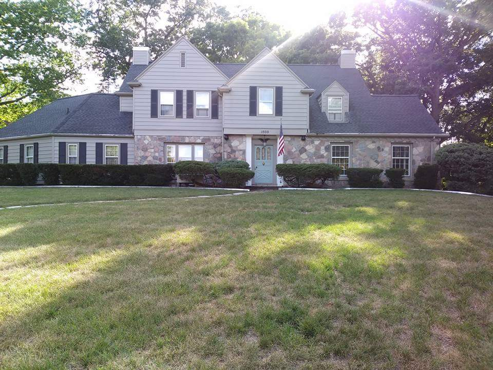 Front of House with a Large Lawn,  Jackson, MI